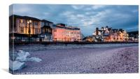 Evening in Sidmouth, Canvas Print
