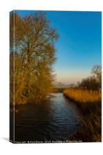 River Stour in Winter, Canvas Print