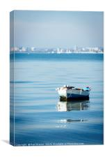 Boat in Poole Harbour, Canvas Print