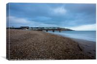 Bowleaze Cove at Winter, Canvas Print
