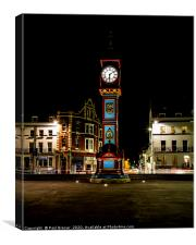 Weymouth Clock in Winter, Canvas Print