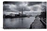 The Shard and the River Thames, Canvas Print
