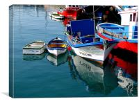 Boats in Los Chistianos, Canvas Print