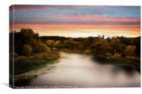 Sunset River, Canvas Print