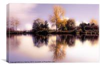 Autumn Pond, Canvas Print