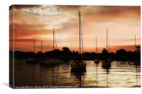 Sunset Silouette, Canvas Print