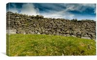 Dry Stone Wall in The Yorkshire Dales, Canvas Print