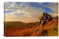 Evening at Scugdale North Yorkshire, Canvas Print