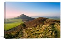 Roseberry Topping Evening glow, Canvas Print