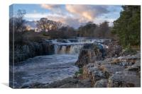 Low Force Waterfall on River Tees, Canvas Print