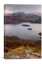 View to Cat Bells, Newlands Horseshoe Wainrights,, Canvas Print