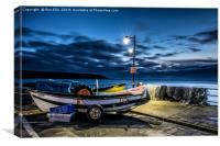 By the Seaside Before Sunrise, Canvas Print