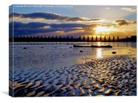 Cramond Sunset, Canvas Print