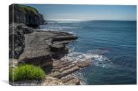 Dancing Ledge Dorset, Canvas Print