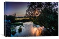 White Mill Sunset, Canvas Print