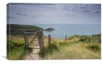 Worbarrow Bay from the Top, Canvas Print