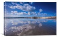 On Penzance Beach, Canvas Print