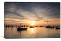 Saturday Swanage Sunrise, Canvas Print