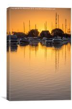 Stour Moorings , Canvas Print