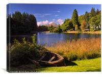 Ben Lomond across Loch Ard, Canvas Print