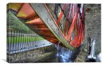 Lady Isabella Laxey Wheel, Canvas Print