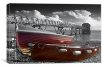 Red Boats, Canvas Print