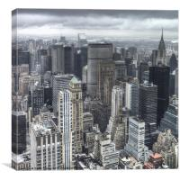 Rainy Manhattan, Canvas Print