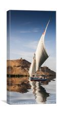 Sailing the Nile, Canvas Print