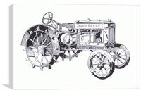 John Deere Model A 1934, Canvas Print