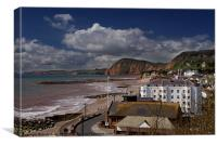 Spring day in Sidmouth, Canvas Print
