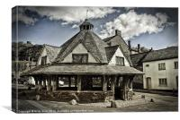 The old yarn market Dunster, Canvas Print