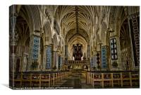 Inside Exeter cathedral, Canvas Print