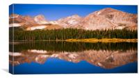 Indian Peaks Reflections, Canvas Print