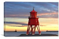 South Shields Groyne, Canvas Print