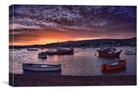 Teignmouth sunset 2                               , Canvas Print