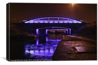 Falkirk Blue Bridge, Canvas Print