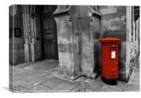 British Red Post Box, Canvas Print