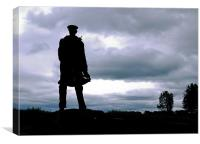 David Stirling Statue Silhouette, Canvas Print