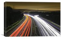 Scottish Light Trails, Canvas Print