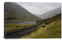 The Road to Glencoe, Canvas Print