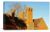 All The Manor House Chimney's, Canvas Print