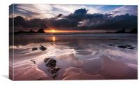 Hartland Sunset, Canvas Print