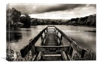 'On Osbourne's Pond' B & W, Canvas Print