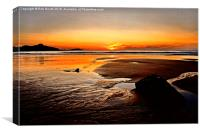 'Sunset Beach', Canvas Print