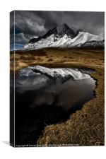 Torres del Paine lake, Canvas Print
