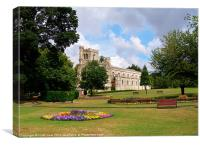 priory church in dunstable, Canvas Print