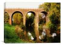 a victorian viaduct, Canvas Print