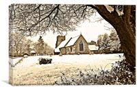 all saints church springfield essex, Canvas Print