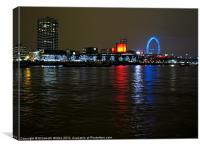 Lights on the River Thames, Canvas Print