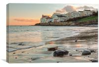 Day Break at Swanage, Canvas Print